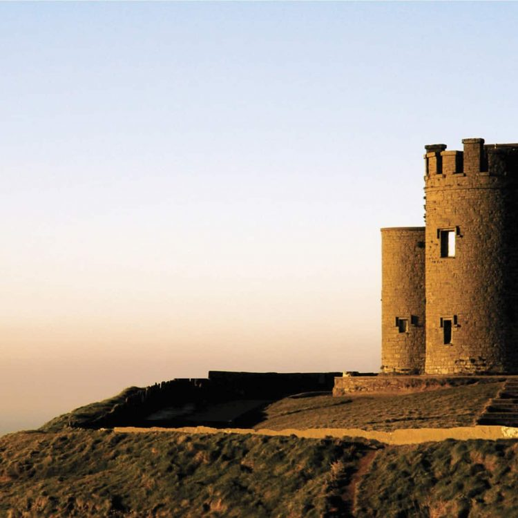 O'Brien's Tower on the Cliffs of Moher, Co. Clare, at sunset