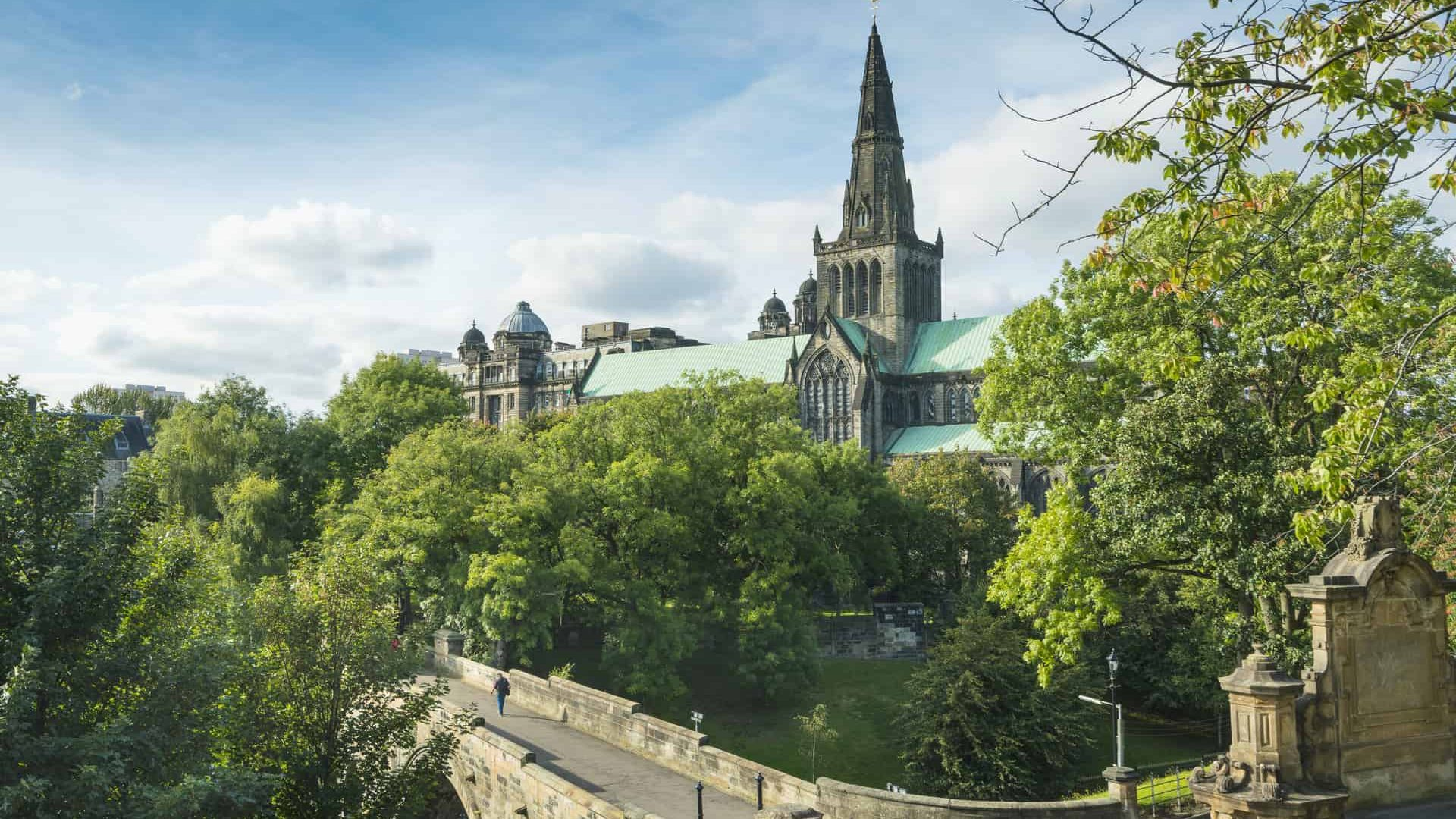 Glasgow Cathedral. Thought to have been built on the site of St Kentigern's tomb and marks the birthplace of the city of Glasgow.